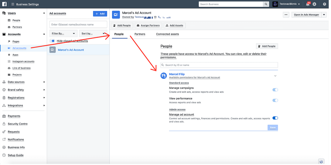 Connect Facebook Ad manager